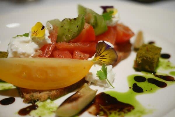 tomato bruscetta at drakes