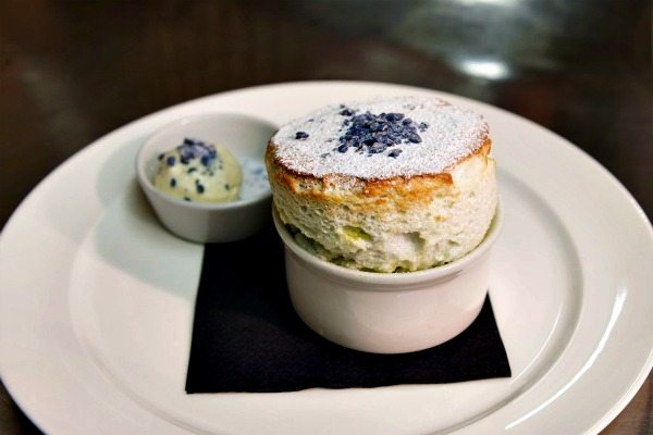 Lavender souffle at Drakes Restaurant Brighton