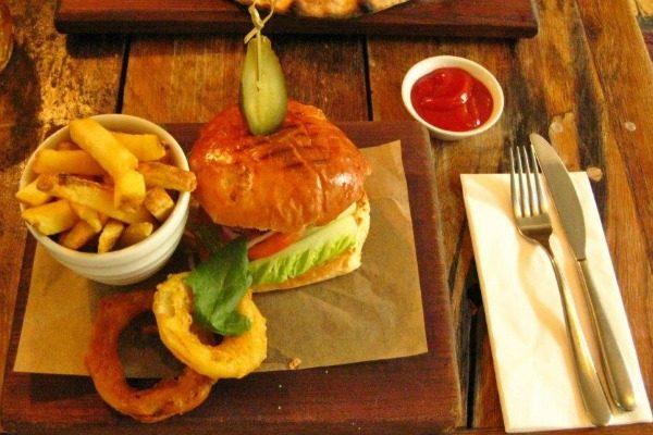 Prime rib burger at Dyke Pub & Kitchen