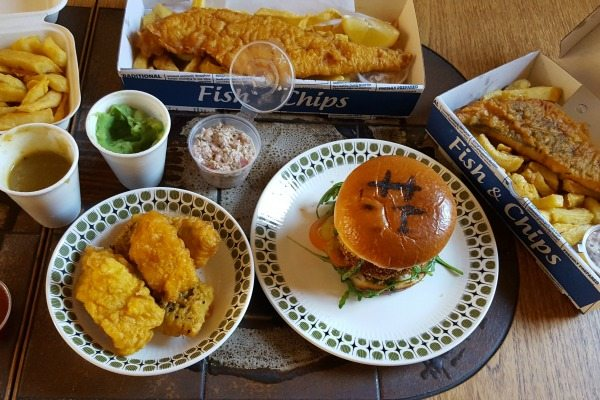 Fish and chips delivery from fish liquor via deliveroo