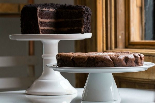 Chocolate cakes at the Flour Pot Bakery
