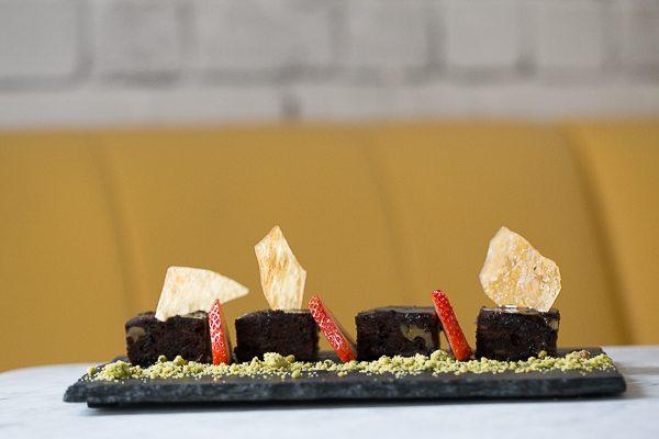 Warm Brownie - Gluten free vegan chocolate brownie, 1847 Brighton, vegetarian restaurant