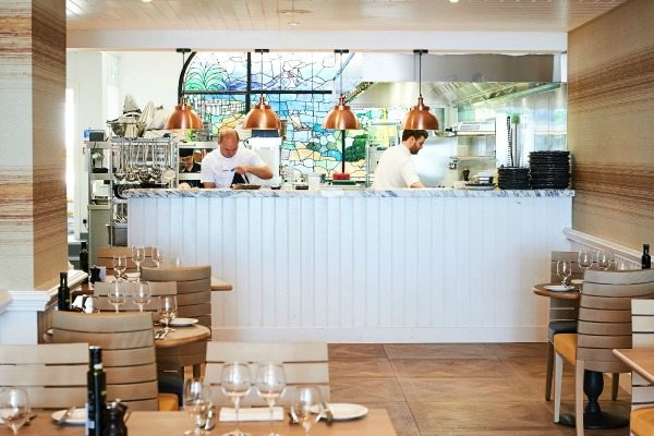The open kitchen at The Jetty Brighton
