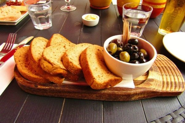 Olives and Bread at Old Bank