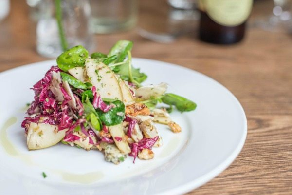 Pear Stilton and Walnut Salad at Limes of Lindfield