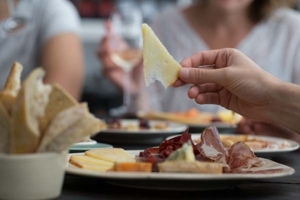 Cheese and charcuterie at Ten Green Bottles Brighton