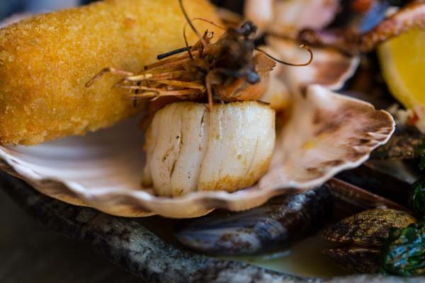 Scallop and clam at The Jetty Restaurant