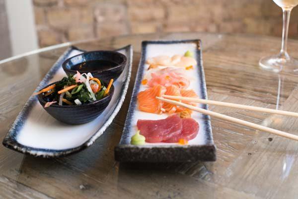 Sashimi at The Jetty Restaurant