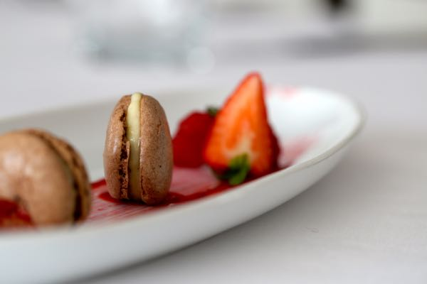 Finished plate - chocolate macaroons