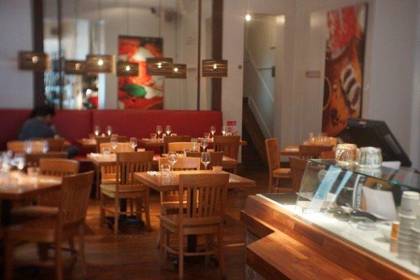 Interior of Edendum Restaurant Brighton