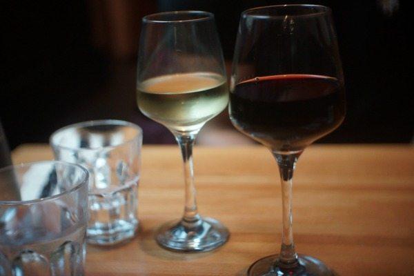Wine at Edendum restaurant