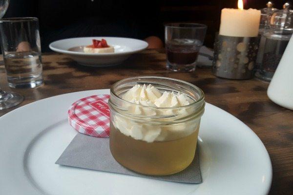 Elderflower dessert at Grow 40