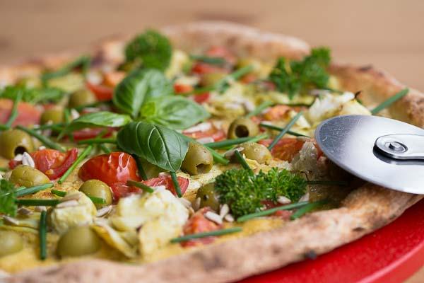 Vegan Pizza at Purezza, Kemptown