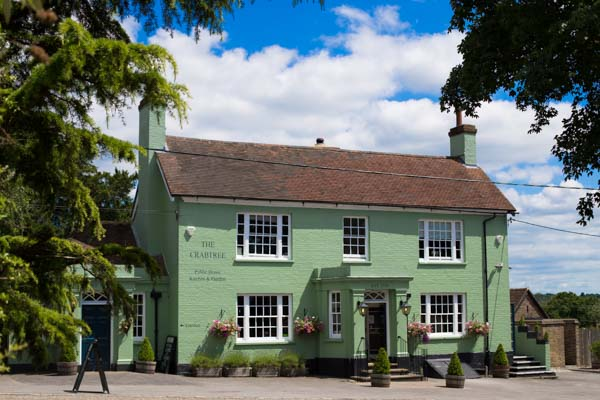 The outside of The Crabtree Pub, Sussex - Book a table, make a reservation with a Brighton restaurant