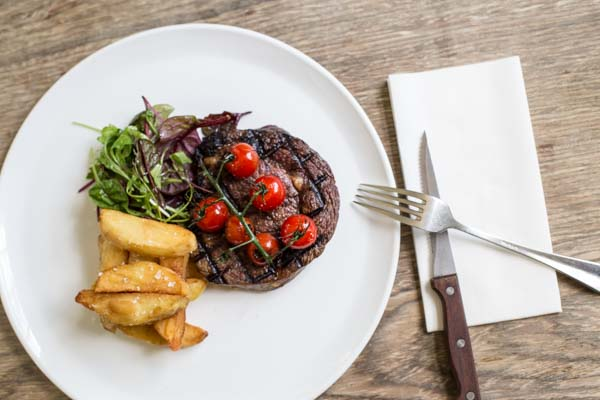 The Crabtree steak and chips