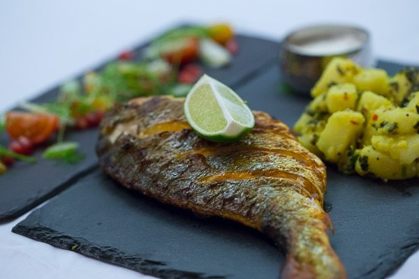 Bream Main dish at Indian Summer in Brighton