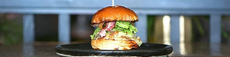 burger, cheese, bacon, Brighton, Lucky Beach, cafe, lunch - Lucky Beach Brighton