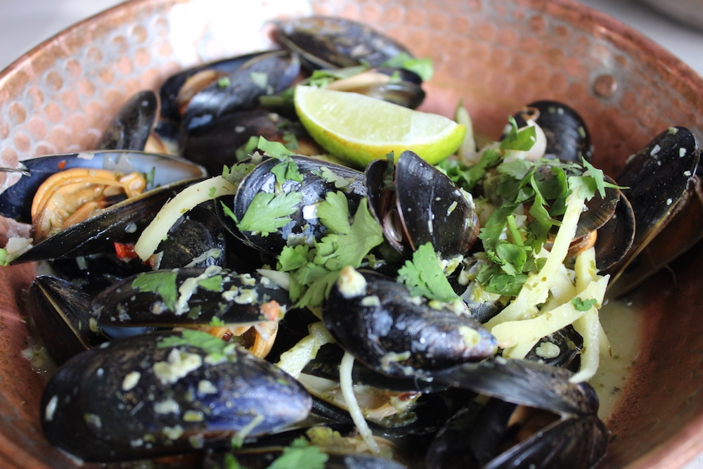 Thai green mussels at The Urchin in Hove