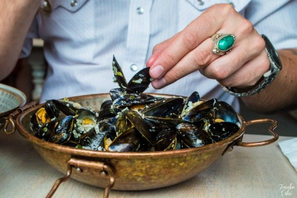 The Urchin Hove, moules mariniere