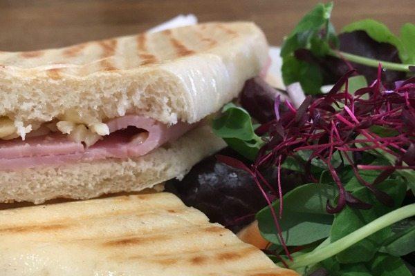 ham and cheese panini at bucket and spade cafeham and cheese panini at bucket and spade cafe
