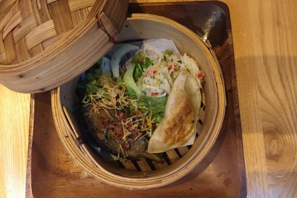 terre a terre, bamboo steamer, aubergine main course