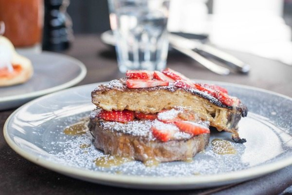 French Toast with strawberries at no 32 duke street