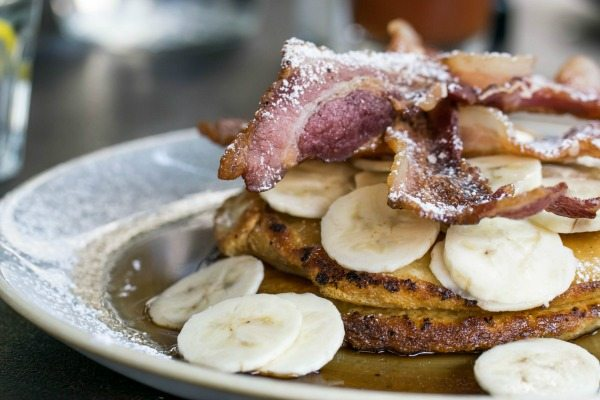 pancakes with bacon and banana at no 32 duke street brighton