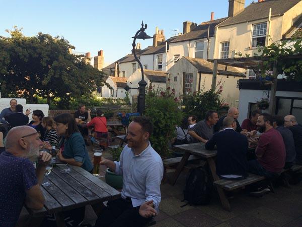 Battle of Trafalgar pub garden. Pubs Near Me Brighton