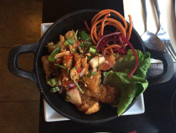 Calamari Salad Starter at Cafe Chilli, Hove, Thai Restaurant, Review