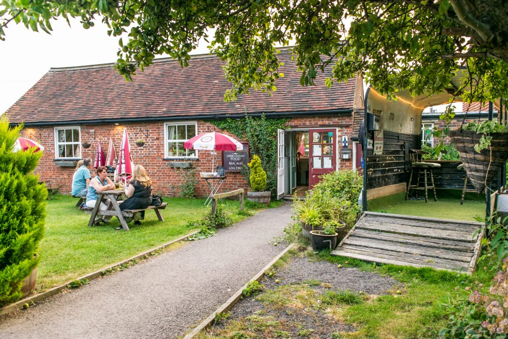 Back Entrance to The Sportsman Pub, Goddards Green, West Sussex. Dog friendly pubs susssex