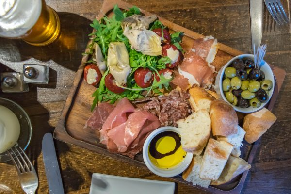 Sharing Meat Platter at The Sportsman Pub, Goddards Green, West Sussex