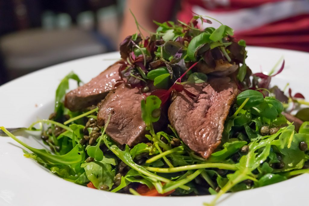 Duck Salad at The Sportsman Pub, Goddards Green, West Sussex - Best Sunday Roasts in Brighton and Sussex