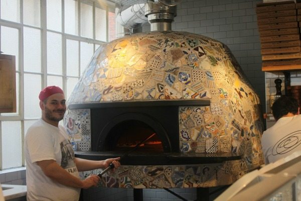 pizza chef at franco manca in brighton - franco manca