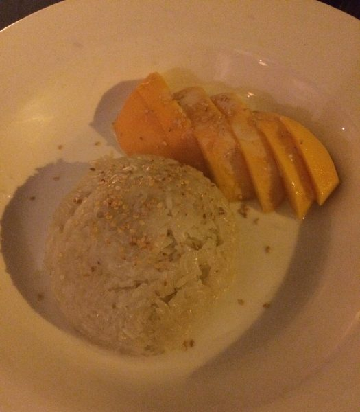 Mango Rice Dessert at Cafe Chilli, Hove, Thai Restaurant