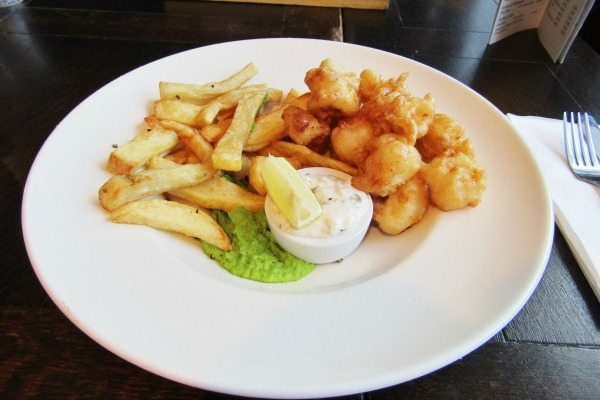 monkfish scampi at the schooner in southwick