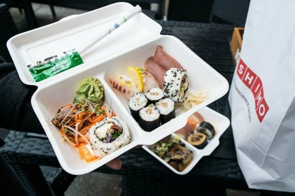 sushi and sashimi from moshimo in brighton