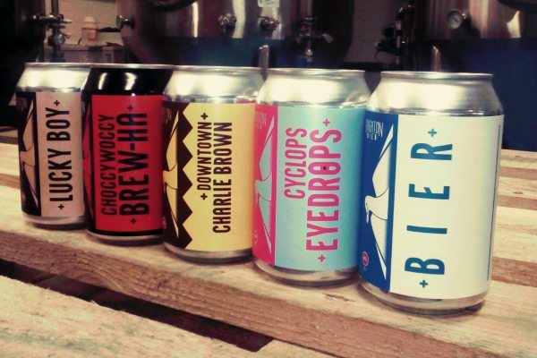 cans of brighton bier