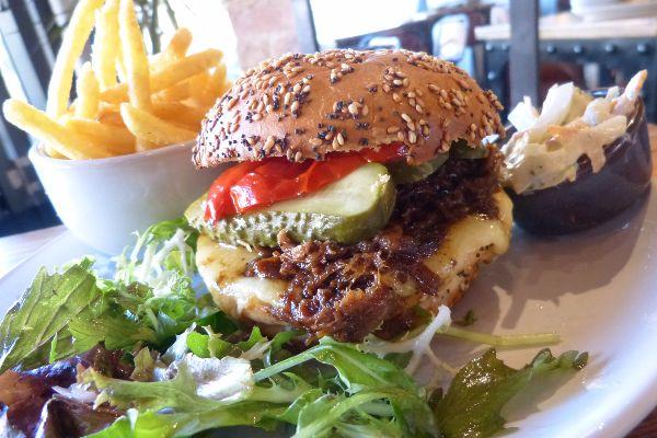 Burger at Libation Hove
