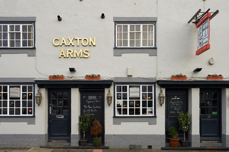 Outside area at a The Caxton Arms Brighton