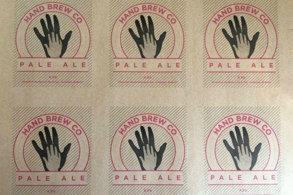 hand brew company logo
