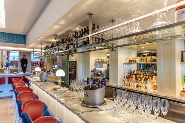 View of the bar at HarBar Brighton