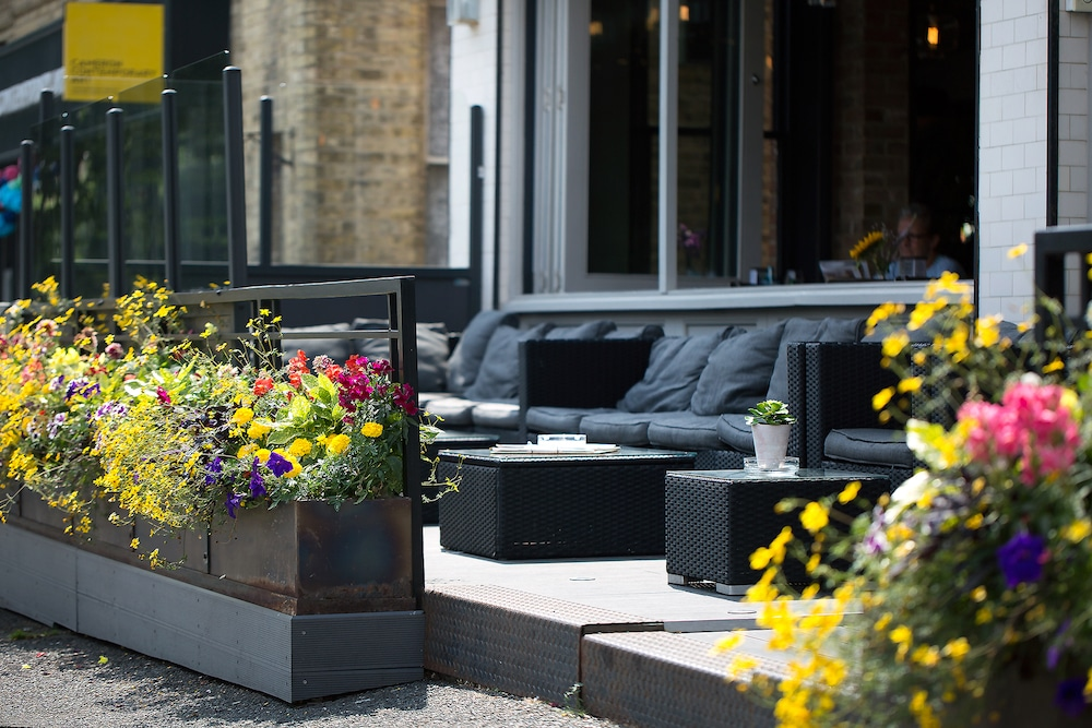 Outside seating at Libation in Hove
