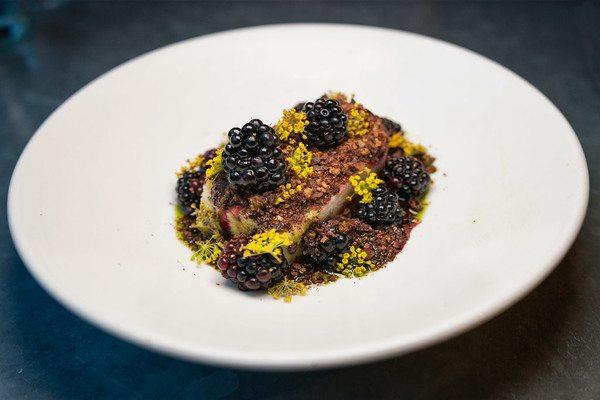 blackberry dessert at silo brighton