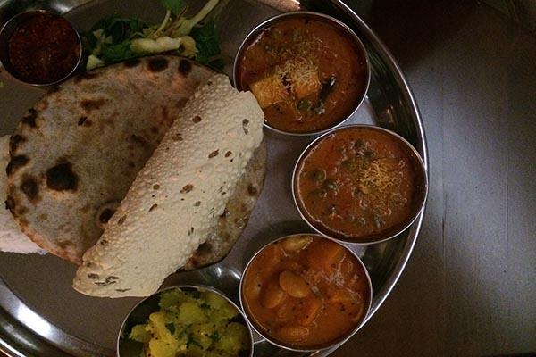thali - Indian Summer, vegetarian