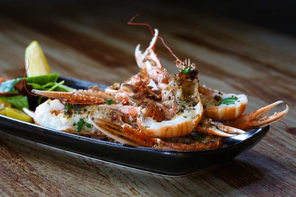 seafood dish at The Urchin Pub, Hove