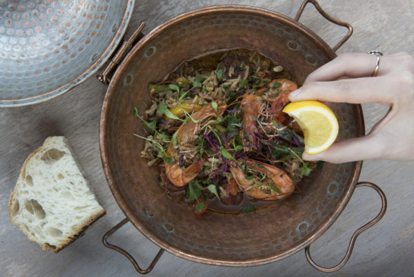 Kings Prawn dish at The Urchin