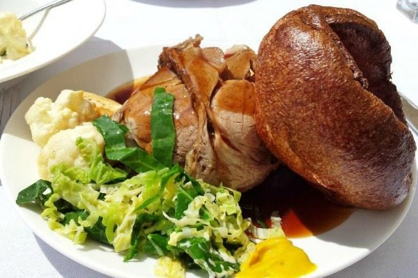 roast lamb at stanmer house