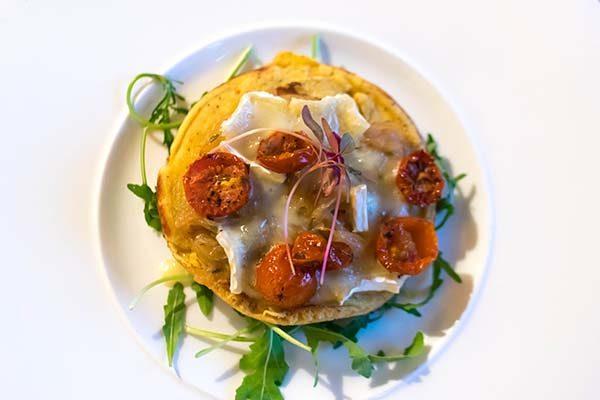 Chickpea pancake starter, The Talbot, Cuckfield