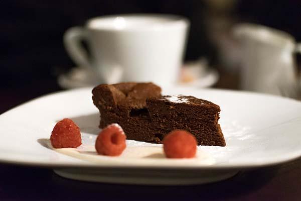 Dark Chocolate Espresso Mousse Cake, dessert, The Talbot, Cuckfield ...