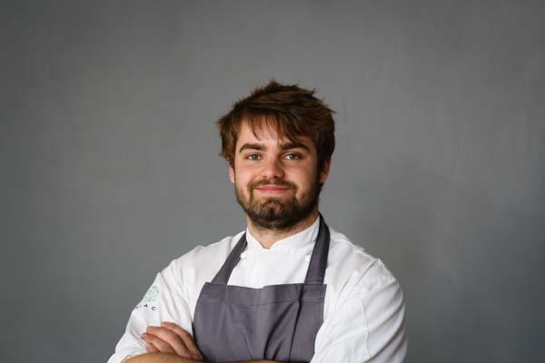 Head chef Isaac Bartlett-Copeland posing